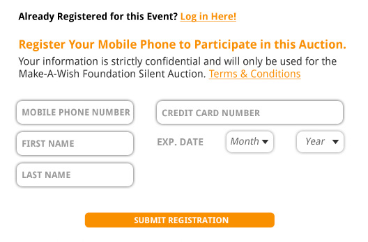 silent auction bidder registration form