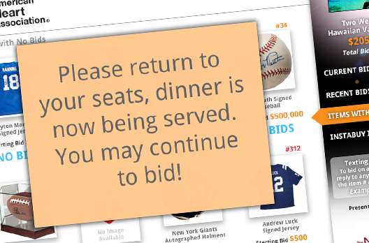 Silent Auction Broadcast Messaging