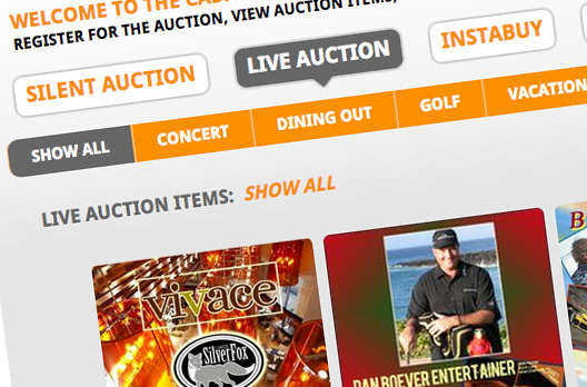 Live Auction Items Mobile Bidding
